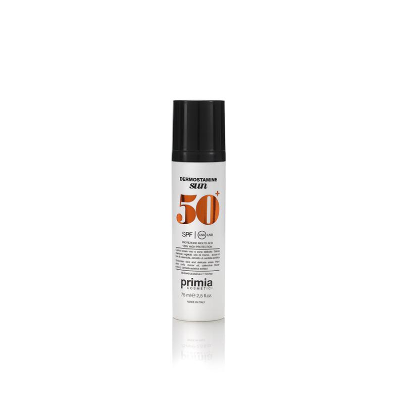 PRIMIA COSMETICI Крем солнцезащитный для лица и деликатных зон SPF 50+ / Dermostamine Sun 75 мл