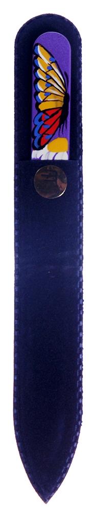 BOHEMIA PROFESSIONAL Пилочка стеклянная цветная Art de lux 135ммПилки для ногтей<br>Нет ничего лучше для натуральных ногтей, чем пилка из богемского хрусталя. Данный материал имеет практически неограниченный срок использования. Пилки Bohemia Professional имеют наиболее стойкий абразив. Пилка из богемского хрусталя также может стать стильным аксессуаром или красивым подарком. Bohemia Professional представляет Вам огромный выбор прозрачных и цветных пилок с декором: ручная роспись, декорация стразами, пилки с логотипом, и полноцветные изображения. Инструмент можно стерилизовать и обрабатывать химическими дезинфекторами, антисептиками.<br>