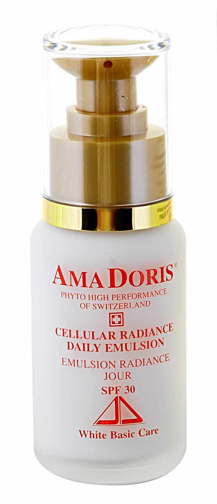 AMADORIS Крем защищающий на клеточном уровне для смешанной и жирной кожи дневной SPF30 50млКремы<br>Базирующаяся на высокоэффективном клеточном комплексе растительного происхождения и регенерирующих витаминах эмульсия предназначена для смешанной и жирной кожи и регулирует состояние секреции сальных желез. Значительно улучшает цвет лица, придает коже великолепное сияние и лучистость. Насыщенная частичками- фильтрами эмульсия предотвращает проникновение на кожу опасных солнечных лучей (фактор защиты от солнца 30). Благодаря своей легкой структуре, является великолепной основой для дальнейшего нанесения макияжа. Активные ингредиенты:&amp;nbsp;Иммусель, витамины А, Е, солнечный фильтр против Альфа и Бета лучей, экстракты кардамона, смородинового листа. Насыщен гликопротеинами. Способ применения: Наносить каждое утро после очищения кожи и вбивать кончиками пальцев в кожу лица и шеи до полного впитывания эмульсии. Рекомендуется для увядающей проблемной кожи.<br><br>Время применения: Дневной