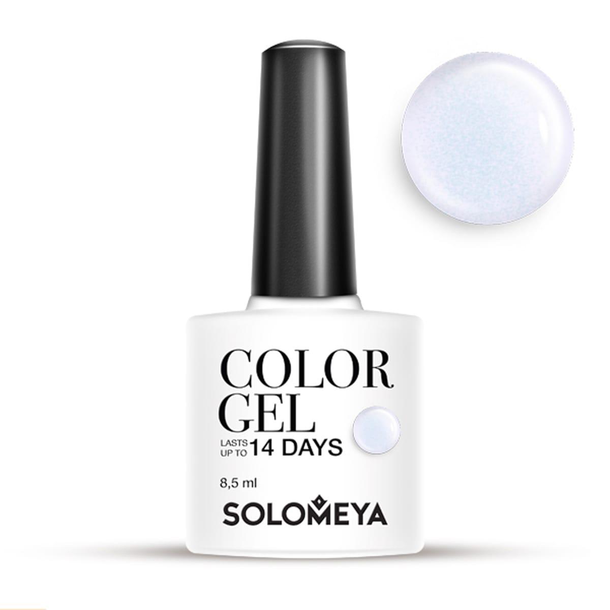 SOLOMEYA Гель-лак Solomeya Color Gel Lilac SCG122/Нежно-лиловый 8,5 млГель-лаки<br>Гель-лак Color Gel Solomeya подарит маникюру яркость, палитру из 100 оттенков и стойкость до 21 дня. Благодаря оптимальной консистенции он легко и равномерно наносится, не оставляя пузырьков и проплешин. В состав гель-лака входят качественные красители, обеспечивающие высокую пигментированность каждого оттенка. Не содержит толуол, растворители и отвердители. Способ применения: поверх базового геля нанесите 1 тонкий слой средства, запечатывая торцы ногтей, и просушите в UV-лампе (36 Вт) 1 минуту или в LED-лампе - 30 секунд. Затем нанесите второй слой цветного гель-лака, также запечатывая торцы ногтей, и просушите в UV-лампе (36 Вт) 1 минуту или в LED-лампе - 30 секунд.<br><br>Цвет: Белые<br>Виды лака: С блестками
