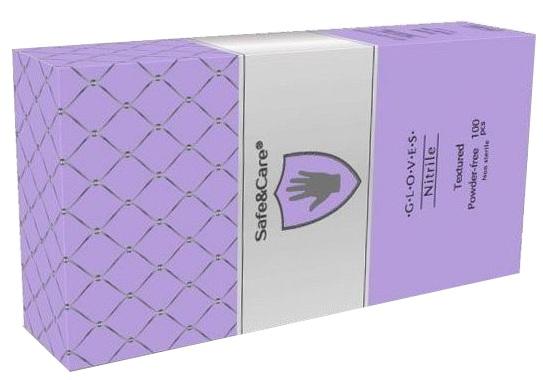 Купить SAFE & CARE Перчатки нитриловые, перламутровые фиолетовые, размер М / Safe & Care 100 шт