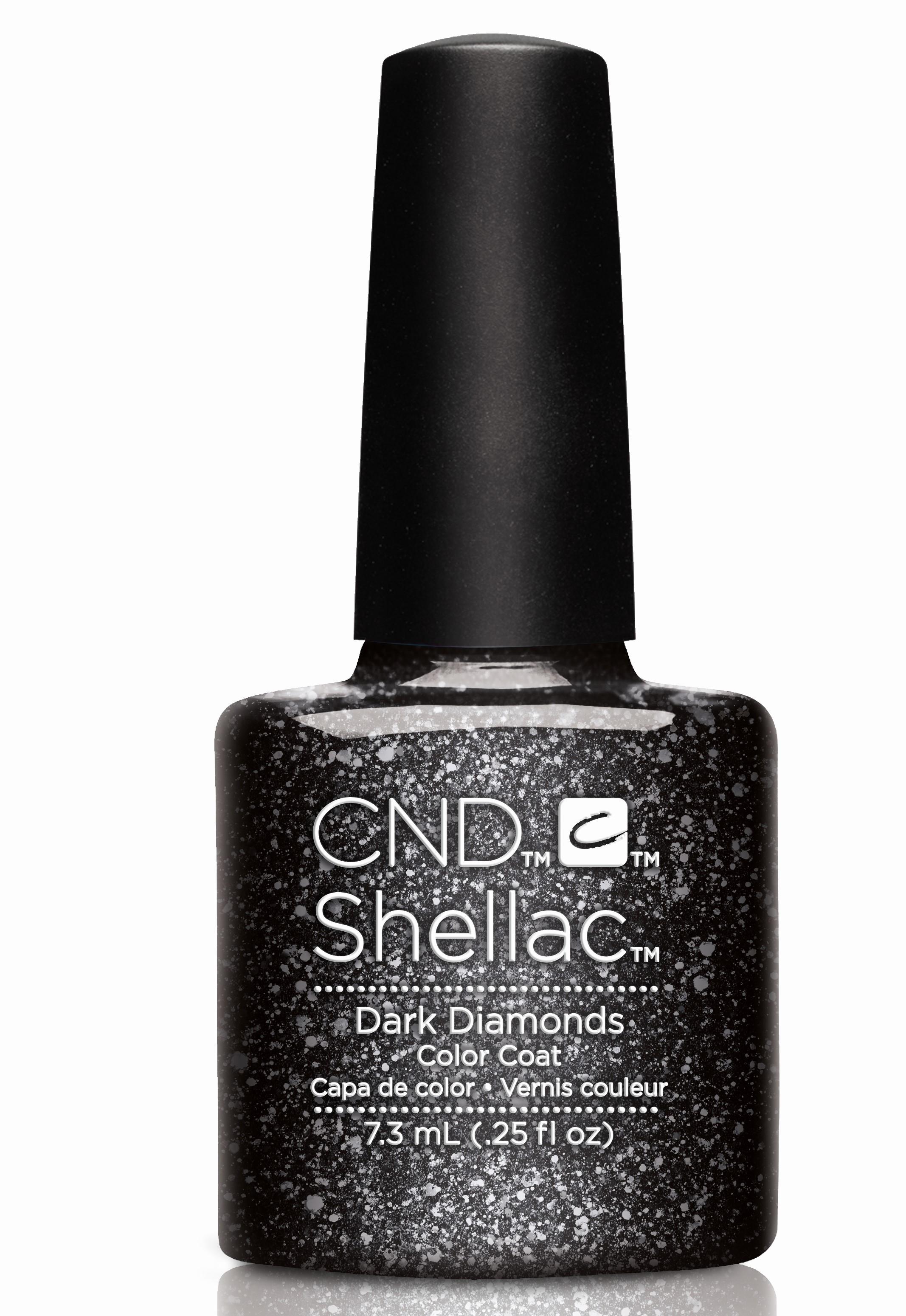 CND 91258 покрытие гелевое Dark Diamonds / SHELLAC Starsrtuck 7,3млГель-лаки<br>Цвет: черный с блестками. Shellac – первый гибрид лака и геля, сочетающий в себе самые лучшие свойства профессиональных лаков для ногтей (простота наложения, яркий блеск, богатство цвета) и современных моделирующих гелей (отсутствие запаха, носибельность, нестираемость). Носится как гель, выглядит как лак, снимается за считанные минуты, укрепляет и защищает ногти, гипоаллергенный, создан по формуле 3 FREE, не содержит дибутилфталата, толуола, формальдегида и его смол – все это Shellac! Преимущества: 14 дней – время носки маникюра 2 минуты – время высыхания покрытия Зеркальный блеск и идеальная гладкость маникюра Не скалывается, не смазывается, не трескается Каждое покрытие представлено в непрозрачном флаконе, цвет которого абсолютно идентичен оттенку самого продукта. Флакон не скользит в руке, что делает процедуру невероятно легкой и приятной, а удобная кисточка позволяет нанести средство идеально ровно.<br><br>Цвет: Черные<br>Пол: Женский<br>Класс косметики: Универсальная<br>Виды лака: С блестками