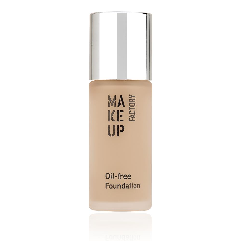 MAKE UP FACTORY Крем тональный матовый для нормальной и жирной кожи, 34 розовый фарфор / Oil-free Foundation