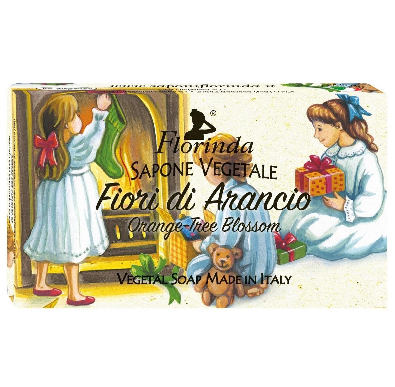 Купить FLORINDA Мыло растительное, цветок апельсинового дерева / Fiori Di Arancio 100 г