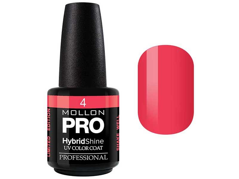 MOLLON PRO Гель-лак для ногтей УФ / HybridShine UV Color Coat  04 15мл