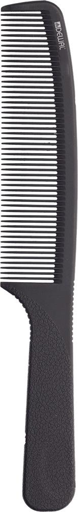 DEWAL PROFESSIONAL Расческа рабочая Super thin с ручкой, средняя (черная) 20,5 см
