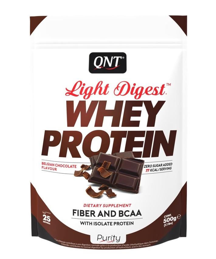 Купить QNT Добавка биологически активная к пище Лайт дайджест вей протеин, бельгийский шоколад / LIGHT DIGEST WHEY PROTEIN Belgian Chocolate 500 г
