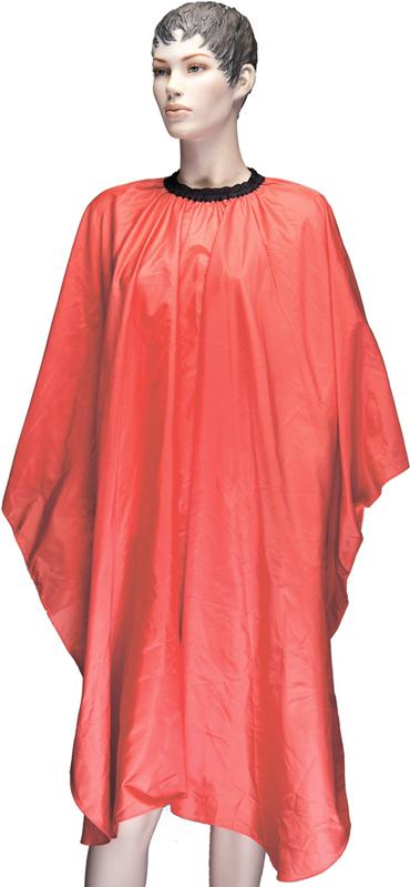 DEWAL PROFESSIONAL Пеньюар для стрижки Палитра, полиэстер, на крючках, оранжевый 128х146 см