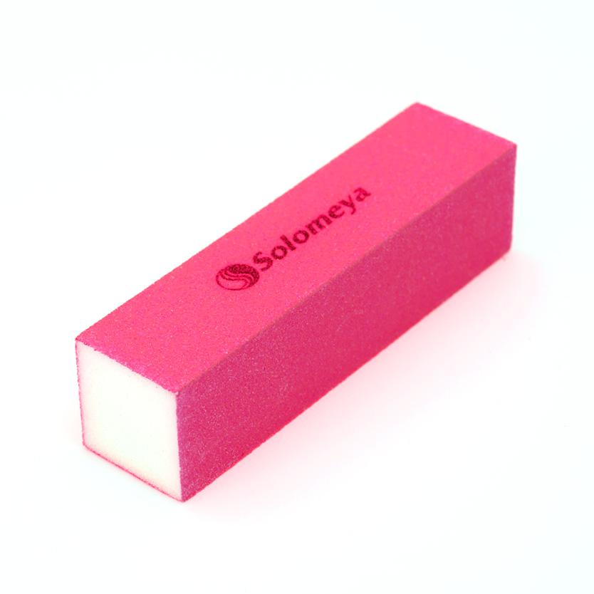 SOLOMEYA Блок-шлифовщик для ногтей розовый / Pink Sanding BlockПилки для ногтей<br>Блок-шлифовщик Solomeya предназначен для обработки искусственных ногтей, а также ногтей с тканевыми покрытиями. Прекрасно сглаживает все неровности, не повреждая кутикулу. Шлифовщик изготовлен из полиэтиленовой пены высокого качества, благодаря чему сохраняет свои свойства в течение длительного времени. Рекомендуется для профессионального и домашнего использования.<br>