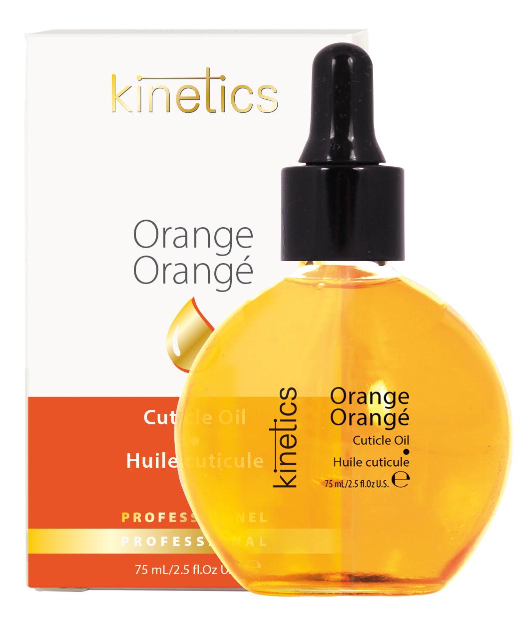 KINETICS Масло Orange (в коробке) (с пипеткой) Апельсин 75 млДля кутикулы<br>Масло для кутикулы Kinetics теперь в профессиональном объеме - 75мл. Экономичная пипетка-дозатор регулирует расход масла и препятствует проникновение пыли в бутылочку.<br>