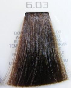 HAIR COMPANY 6.03 краска для волос / HAIR LIGHT CREMA COLORANTE 100млКраски<br>Профессиональная стойкая крем-краска для волос. Результат последних разработок ведущих специалистов и продукт высоких технологий. Профессиональная стойкая крем-краска Hair Light Crema Colorante богата натуральными ингредиентами и, в особенности, эксклюзивным мультивитаминным восстанавливающим комплексом. Новейший химический состав (с минимальным содержанием аммиака) гарантирует максимально бережное отношение к структуре волос. Применение исключительно активных ингредиентов и пигментов высочайшего качества гарантирует получение однородного и стойкого цвета, интенсивных и блестящих, искрящихся оттенков, кроме того, дает полное покрытие (прокрашивание) седых волос. Тона профессиональной стойкой крем-краски Hair Light Crema Colorante дают возможность парикмахеру гибко реагировать на любые требования, предъявляемые к окраске волос. Наличие 5 микстонов и нейтрального (бесцветного) микстона, позволяет достигать результатов окраски самого высокого уровня. Применение: Смешать Hair Light Crema Colorante с Hair Light Emulsione Ossidante в пропорции 1:1,5. Время воздействия 30-45 мин.<br><br>Цвет: Корректоры и другие<br>Объем: 100<br>Вид средства для волос: Стойкая<br>Класс косметики: Профессиональная