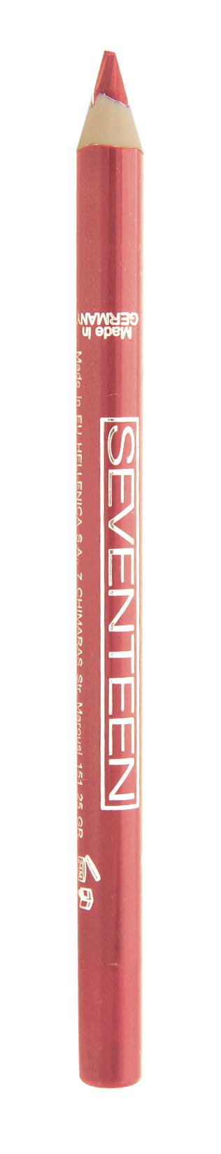 SEVENTEEN Карандаш для губ водостойкий с витамином Е, 28 персик / Super Smooth W/P Lip Liner 1,2 г косметические карандаши seventeen карандаш для губ водостойкий с витамином е super smooth w p lip liner 32