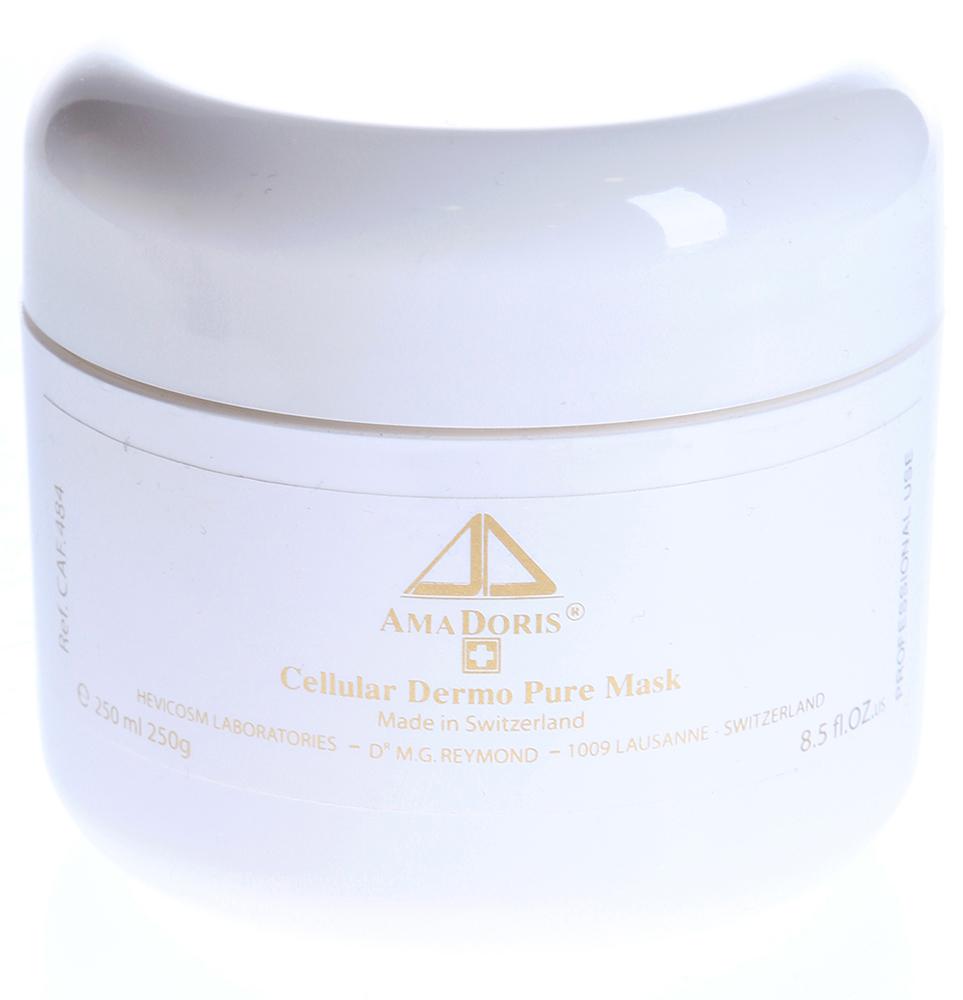 AMADORIS Маска Н2О клеточная очищающая для всех типов кожи 250млМаски<br>Кремовая субстанция цвета яичной скорлупы с запахом лаванды. Маска предназначена для смешанной и жирной кожи, не имеет возрастных ограничений. Она подходит для проведения атравматической чистки методом холодного гидрирования (без распаривания). Маска открывает поры, облегчает удаление комедонов. Специальные добавки устраняют повышенную активность сальных желёз в Т-зоне, придают матовость коже. Маска выравнивает рельеф кожи, смягчает и увлажняет её. Активные ингредиенты: Гиалуронат натрия, каприлил гликоль, каолин, витамины А, Е, биосахаридный клей, экстракт гинкго билоба, экстракт мальвы, экстракт коры коричного дерева, экстракт эхинацеи, экстракт центеллы азиатской, аскорбиновая кислота (витамин С), эфирное масло лаванды. Способ применения: Нанесите маску на очищенную кожу лица и шеи. Через 15-20 минут снимите маску влажными спонжами или полотенцем. При необходимости проведите механическое удаление комедонов. Протрите кожу тоником.<br>