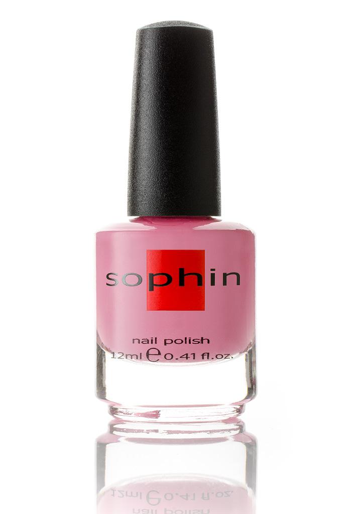 SOPHIN Лак для ногтей, розовый 12млЛаки<br>Коллекция лаков SOPHIN очень разнообразна и соответствует современным веяньям моды. Огромное количество цветов и оттенков дает возможность создать законченный образ на любой вкус. Удобный колпачок не скользит в руках, что облегчает и позволяет контролировать процесс нанесения лака. Флакон очень эргономичен, лак легко стекает по стенкам сосуда во внутреннюю чашу, что позволяет расходовать его полностью. И что самое главное - форма флакона позволяет сохранять однородность лаков с блестками, глиттером, перламутром. Кисть средней жесткости из натурального волоса обеспечивает легкое, ровное и гладкое нанесение. Быстро высыхает&amp;nbsp; Превосходно наносится&amp;nbsp; Долго держится&amp;nbsp; Создаёт глубокое блестящее покрытие&amp;nbsp; Легко применяется и удаляется Big5free Активные ингредиенты. Состав: ethyl acetate, butyl acetate, nitrocellulose, acetyl tributyl citrate, isopropyl alcohol, adipic acid/neopentyl glycol/trimellitic anhydride copolymer, stearalkonium bentonite, n-butyl alcohol, styrene/acrylates copolymer, silica, benzophenone-1, trimethylpentanedyl dibenzoate, polyvinyl butyral.<br><br>Цвет: Розовые