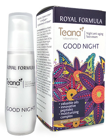 TEANA Крем омолаживающий ночной для лица / GOOD NIGHT ROYAL FORMULA 30 мл - Кремы