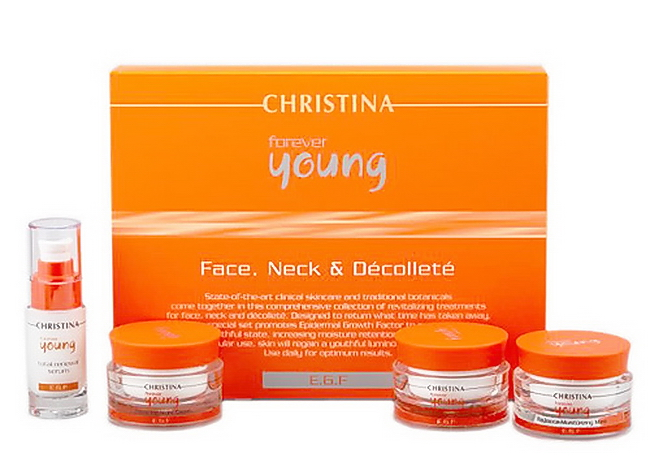 CHRISTINA Набор для лица, шеи и декольте (4 препарата) / Face, Neck  Decollete Kit FOREVER YOUNG