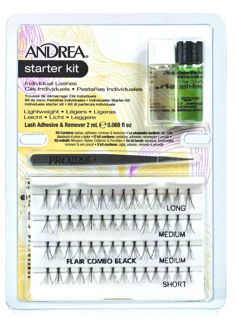 ANDREA Набор стартовый (пучки комбинированные, пинцет, клей, удалитель) / Perma Lash Starter Kit - Накладные ресницы