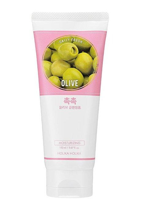 HOLIKA HOLIKA Пенка очищающая увлажняющая с оливой Дэйли Фреш / Daily Fresh Olive Cleansing Foam 150 мл