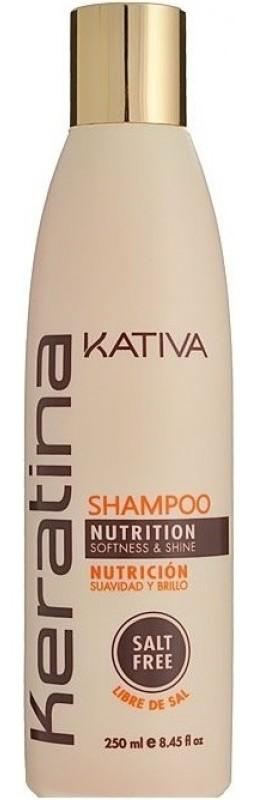 KATIVA Шампунь укрепляющий с кератином для всех типов волос / KERATINA 250 мл