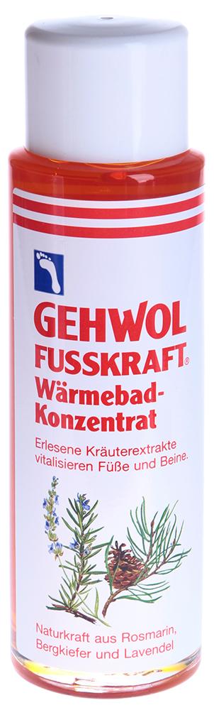 GEHWOL Ванна согревающая 150млВанны для ног<br>Средство, стимулирующее кровообращение и согревающее ноги. Ванна - это концентрированный экстракт эфирных масел имбиря и красного перца. Она также содержит натуральные вытяжки из розмарина и комбинацию витамина &amp;laquo;E&amp;raquo; (профилактика старения кожи) и витаминов группы  B  (питание, уход). Все активные ингредиенты быстро проникают в кожу, и продолжительное время дают ощущение тепла. Средство также ухаживает за сухой кожей, делает её эластичной и мягкой. Способ применения: Одну ложку средства (10 мл.) развести в 3-4 литрах теплой воды. Купать ноги в течение 10-15 минут, после этого рекомендуется массаж с  Красным бальзамом  из серии  ФУСКРАФТ . Не используйте средство для детей до 3 лет, берегите глаза от попадания, не рекомендуется для людей с индивидуальной чувствительности к маслу горной сосны.<br><br>Объем: 150<br>Назначение: Старение<br>Консистенция: Мягкая