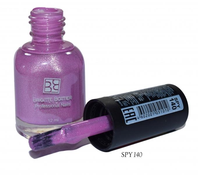 BRIGITTE BOTTIER Лак для ногтей тон SPY 140 фиалковый/светло-фиалковый / Color Spy 12мл