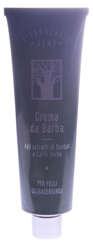 LERBOLARIO Крем для бритья с маслом баобаба 150 млДля бритья<br>Мягкий легкий крем для бритья, которому большое количество растительных эфирных масел придает аромат свежей зелени, подготовит Вашу кожу к мягкому бритью.Благотворное влияние на кожу оказывают масло баобаба и масло бабасу, а также кофейное масло, которые питают и смягчают кожу, а экстракты из плодов баобаба и зеленых зерен кофе тонизируют и защищают ее. Красноту, возникающую в результате бритья, прекрасно снимает экстракт овса с авенантрамидами и фитостеролы капусты полевой. А витамин Е из семян сои, прекрасный ингредиент, оказывающий антивозрастное действие, в составе данного средства предотвращает преждевременное старение кожи, вызываемое бритьем.  Активные ингредиенты: Estratto fluido di frutto di Baobab, Estratto fluido di semi di Caff&amp;egrave; verde, Olio di Baobab, Burro di Caff , Olio di Babassu, Olio di semi di Girasole biologico, Frazione insaponificabile dellOlio di Olvia, fitosteroli da Canola, Estratto fluido di Avena titolato in avenatramidi, Vitamina E dai semi della Soja, oli essenziali di Arancia dolce, Limetta, Mandarino verde, Limone, Chiodi di Garofano, Patchouly e Balsamo Copahu.  Способ применения: На кончики пальцев выдавите небольшой объем крема, а после этого нанесите его на те зоны и участки кожи, которые будете брить. После окончания бритья остатки крема смываются водой. Для полного выдавливания крема из тюбика применяйте прилагаемый ключ - он поможет скручивать опустошенную часть тюбика.<br><br>Пол: Мужской