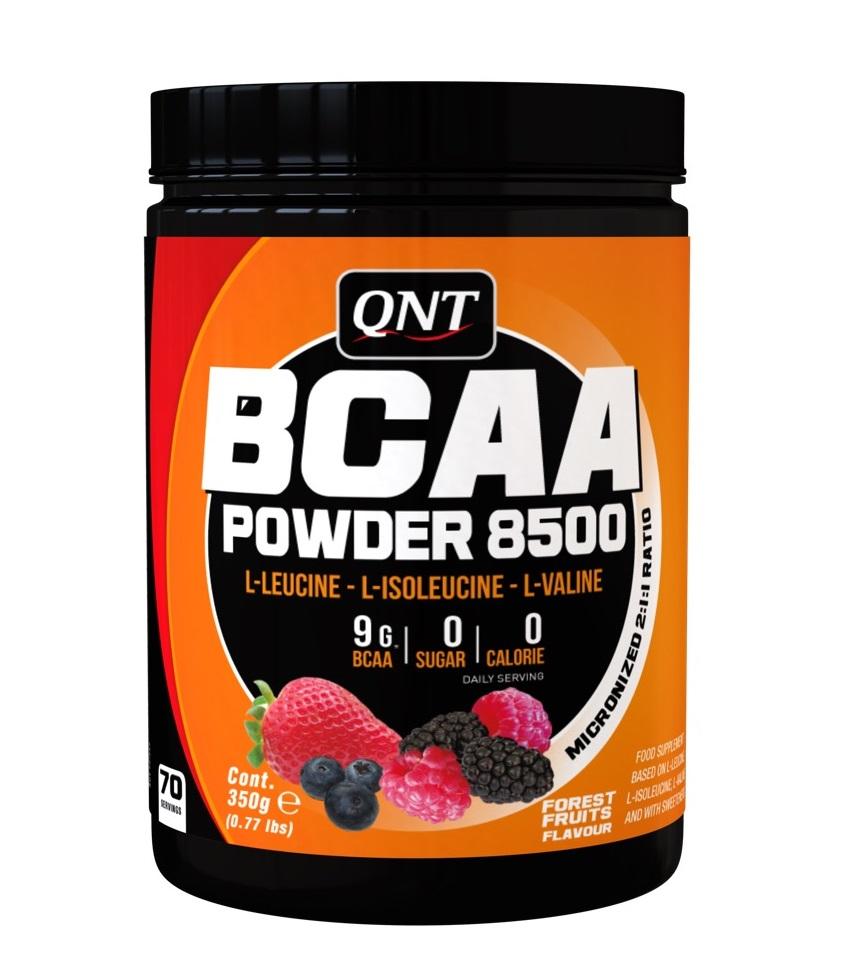 QNT Добавка биологически активная к пище БЦАА паудер 8500, лесные ягоды / BCAA 8500 Powder Forest Fruit 350 г