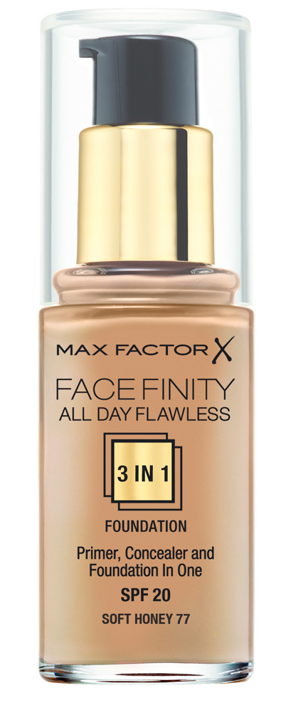 Купить MAX FACTOR Основа тональная 77 / Facefinity All Day Flawless 3-in-1 soft honey