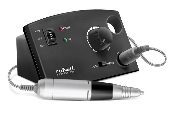 RuNail Дрель электрическая для маникюра и педикюра PM-35000, 35Вт
