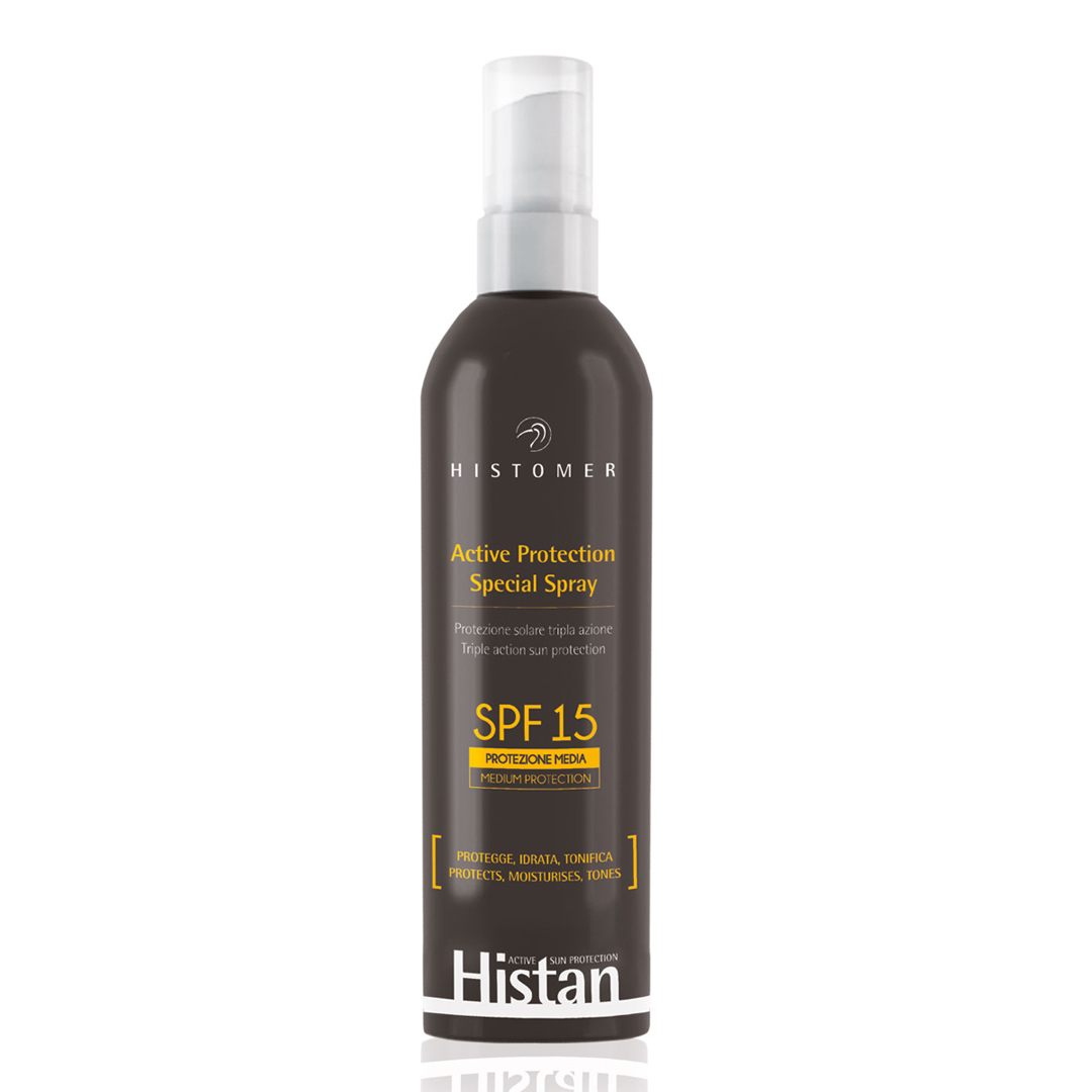HISTOMER Спрей солнцезащитный для лица и тела SPF 15 / Active Protection Spray HISTAN 200 мл