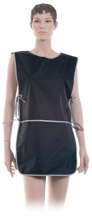 DEWAL PROFESSIONAL Фартук мастера для стрижки и окрашивания, со спинкой, короткий, нейлон, черный 45х82 см