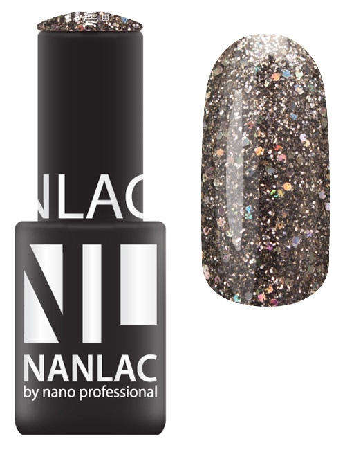 NANO PROFESSIONAL 2167 гель-лак для ногтей, черный бриллиант / NANLAC 6 мл