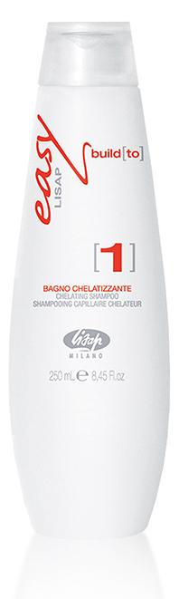 LISAP MILANO Шампунь хелатный для волос / EASY BUILD to 1 250млШампуни<br>Первый шаг в линейке биоламинирования волос от Lisap. Действует на наиболее поврежденные участки волос, придавая им мягкость, объем, блеск, устраняет спутываемость. Благодаря гидролизованным протеинам кератина и витаминам подготавливает к сеансу восстановления, очищая и удаляя все загрязнения. Активные ингредиенты шампуня (пшеничные аминокислоты и кератин) действуют синергетически в наиболее повреждённых местах. Активные ингредиенты: пшеничные аминокислоты, кератин, гидролизированные пшеничные протеины, керамиды А2, ниацинамид, пантотенат кальция, токоферол (витамин Е), пиродоксин HCl, кремний, витамин С. Способ применения: нанести хелатный шампунь на влажные волосы массажными движениями. Оставить на волосах на пару минут. Затем тщательно смыть водой и повторить нанесение. Подсушить волосы полотенцем.<br><br>Типы волос: Поврежденные