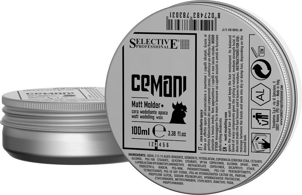 SELECTIVE PROFESSIONAL Воск матовый моделирующий для волос / CEMANI Matt molder+ 100 мл - Воски