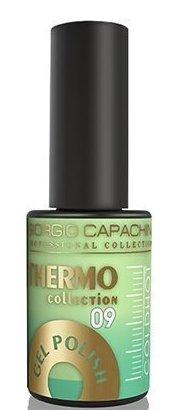 Купить GIORGIO CAPACHINI 09 гель-лак трехфазный для ногтей / Thermo 7 мл, Зеленые