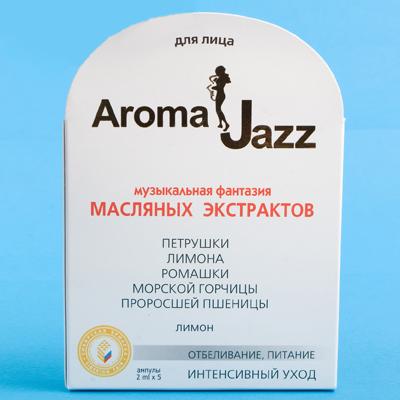 AROMA JAZZ Экстракт масляный для лица Отбеливание 5*2млКонцентраты<br>Бережный уход, питание, осветление, омолаживание. Экстракт предотвращает гиперпигментацию, солнечные и контактные дерматиты, обладает противовоспалительным, бактерицидным и регенерирующим действием. Экстракт придает коже аристократическую прозрачность. Всего несколько процедур, и вы почувствуете себя княжной, знатной и утонченной. Активные ингредиенты: экстракты петрушки, лимона, ромашки, морской горчицы, проросшей пшеницы. Способ применения: вотрите экстракт (1-2 капли) в чистую, влажную кожу лица до нанесения маски, крема, либо перед массажем. Усилить действие любого крема, маски или масла можно, добавив в них всего одну-две капли наших экстрактов. Противопоказания: аллергическая реакция на составляющие компоненты. Рекомендации по использованию: для большего эффекта рекомендуется параллельное использование жидких масел для лица «Миндальный джаз» или «Волшебство китайского лимонника».<br><br>Объем: 5Х2 мл<br>Вид средства для лица: Морской
