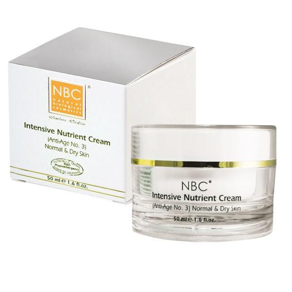 NBC Haviva Rivkin Крем питательный / Intensive Nutrient Cream 50млКремы<br>Высококачественный крем, обогащённый комплексом натуральных ингредиентов, способствует гидратации кожи, восполняет натуральные резервы влаги, защищая кожу от отрицательного воздействия атмосферных явлений. Содержит полный противовозрастной комплекс. Используется для сухой кожи.Активные ингредиенты: масло сладкого миндаля, ланолин, масло какао, ретинола пальмитат, токоферола ацетат.Способ применения: рекомендуется накладывать вместе с витаминными каплями Vital Drops (anti age N 2) на ночь.<br><br>Вид средства для лица: Питательный