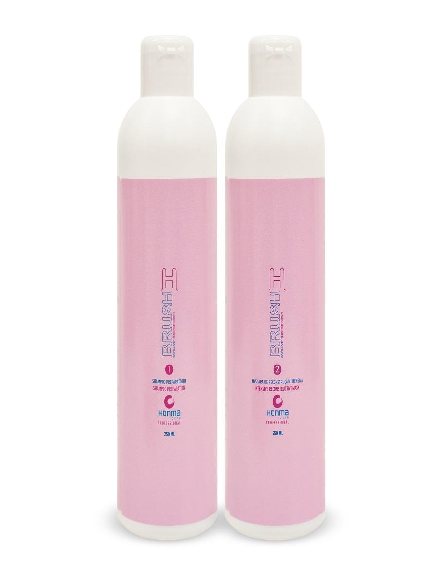 HONMA TOKYO Набор для восстановления и разглаживания волос (шампунь 250 мл, маска 250 мл) H-Brush Botox Capilar - Наборы