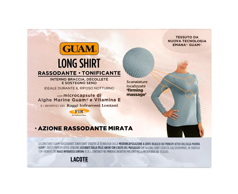 Купить GUAM Футболка женская с укрепляющим эффектом GUAM, М (44) / LONG SHIRT RASSODANTE TONIFICANTE