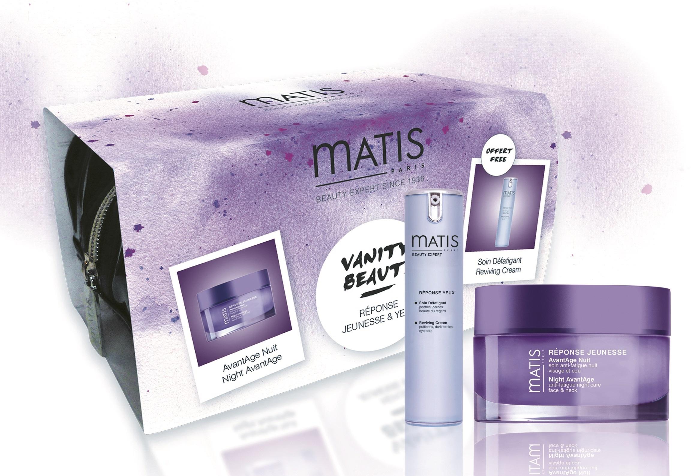 MATIS Набор Сияние молодости (крем ночной предотвращающий старение кожи 50 мл, крем восстанавливающий для кожи вокруг глаз 15 мл)