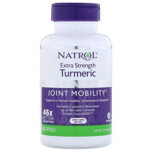 Купить NATROL Добавка биологически активная к пище Куркума двойная сила / Turmeric Extra Strength 60 капсул