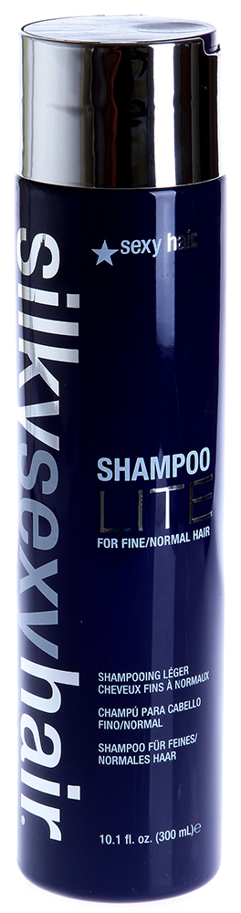 SEXY HAIR Шампунь для тонких волос / SILKY 300млШампуни<br>Шампунь для тонких и нормальных волос от Секси Хейр придаст волосам шелковистость. Это новый продукт косметической марки Sexy Hair Concepts может быть использован ежедневно. Оказывает хорошее действие на отбеленные, окрашенные волосы, а так же волосы после химической завивки и этнические волосы. Silky Shampoo life for fine normal hair Saxy Hairпредоставляет большие возможности последующей укладки волос. Шелковый шампунь Sexy Hair для длинных волос Silky Shampoo относится к линии средств, созданных на основе протеинов шелка, которые прекрасно увлажняют и смягчают волосы. Шампунь делает волосы гладкими и блестящими, хорошо укрепляет волосы, благодаря протеинами сои и пшеницы, масло авокадо и жожоба способствует смягчению волос. Sexy Hair предотвращает появление мелких, непослушных завитков, приглаживает чешуйки кутикул. Для усиления эффекта использовать Шелковый кондиционер из той же линии, после мытья волос. Активный состав: Протеины шелка, сои и пшеницы, увлажняющая формула, масло авокадо, масло жожоба, парфюмерная композиция: вишня, ваниль. Способ применения: Нанести небольшое количество шампуня на волосы, вспенить и смыть.<br><br>Объем: 300