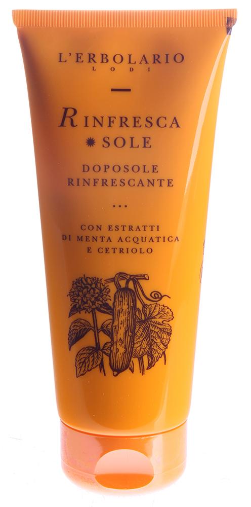 LERBOLARIO Освежающее средство после солнечной ванны с экстрактом водяной мяты и огурцом 200 мл