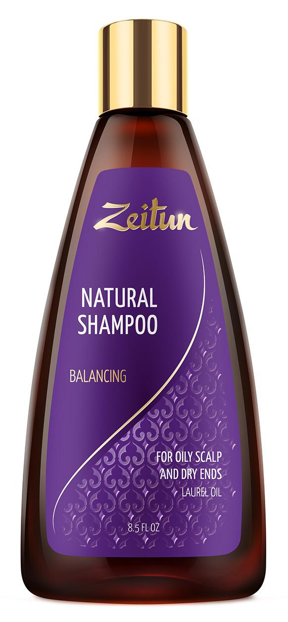 ZEITUN Шампунь для волос жирных у корней и сухих на кончиках Балансирующий 250 мл фото