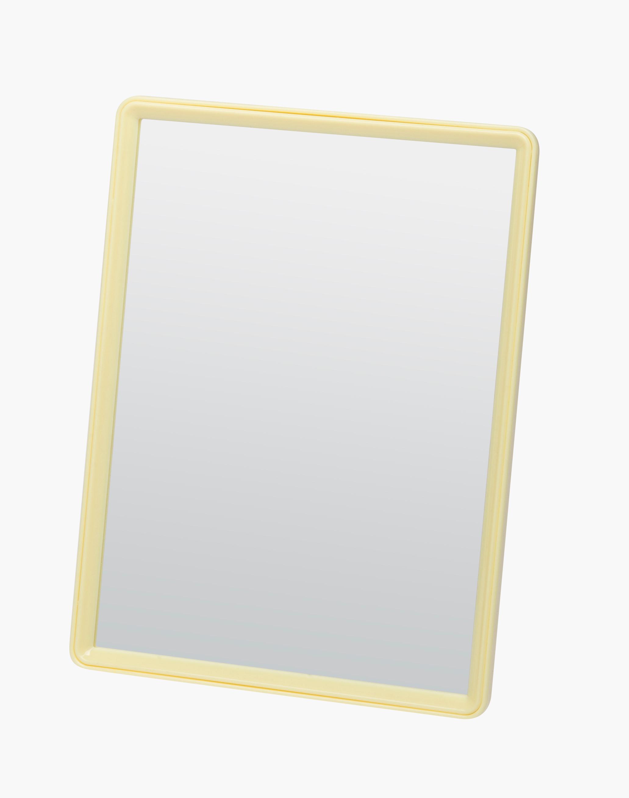 Dewal beauty зеркало настольное, в желтой оправе, на