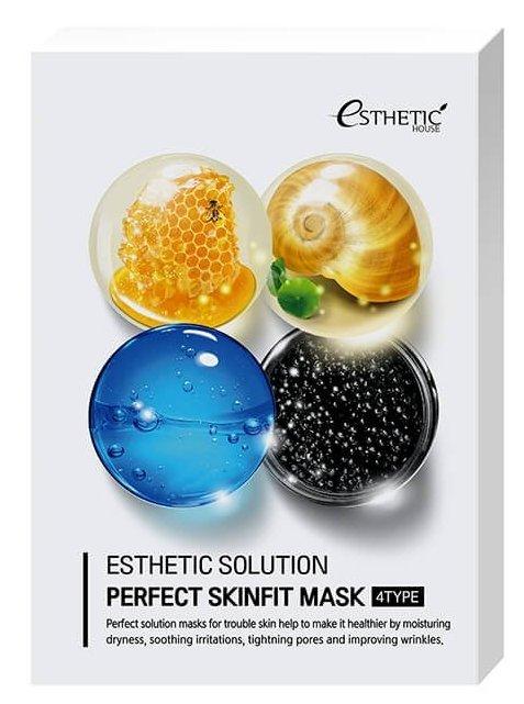 Купить ESTHETIC HOUSE Маска тканевая для лица / ESTHETIC SOLUTION PERFECT SKINFIT MASK 4TYPE 4 шт