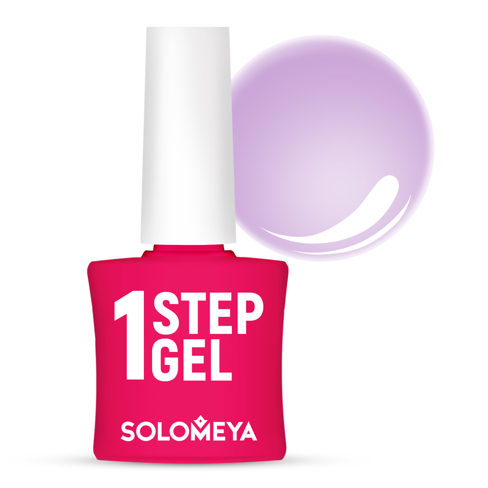 SOLOMEYA Гель-лак однофазный для ногтей, 29 лаванда / One Step Gel Lavender 5 мл, Фиолетовые  - Купить