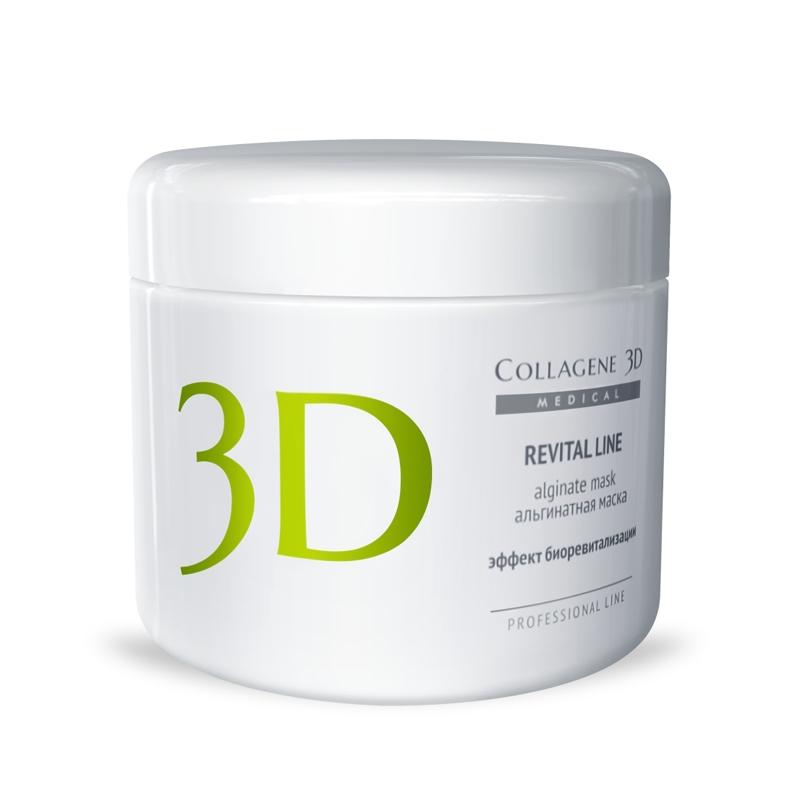 MEDICAL COLLAGENE 3D Маска альгинатная с протеинами икры для лица и тела Revital Line 200грМаски<br>Для усиления эффекта биоревитализации рекомендуется применять альгинатную маску REVITALLINE с протеинами икры. Особенностью этой маски является возможность разведения как холодной, так и горячей водой (до 40  С). В составе экстракт черной икры, богатый протеинами, полиненасыщенными жирными кислотами, витаминами A, В, D, E, незаменимыми аминокислотами, ферментами и полисахаридами. Уникальный щадящий способ обработки исходного сырья позволяет сохранить все полезные свойства натуральных компонентов. Известно, что протеины икры стимулируют естественное омоложение кожи, поскольку их состав схож с белковой фракцией эпидермальных клеток. Применение маски позволяет достичь следующих эффектов: разглаживание морщин, укрепление внутренних структур кожи, подтягивание овала лица, возвращение упругости, стимуляция омоложения на клеточном уровне. Активные ингредиенты: альгинат натрия, экстракт черной икры (содержит протеины икры). Способ применения: перед применением альгинатной маски рекомендуется в качестве концентрата на очищенную кожу нанести коллагеновую гель-маску серии MEDICAL COLLAGENE 3D и сделать легкий массаж. Альгинатную маску подготовить непосредственно перед применением. Порошок смешать с водой комнатной температуры (20-25 С) в пропорции 1:3 до состояния однородной массы. С помощью шпателя равномерно нанести на кожу. Через 15 минут снять маску единым пластом. В завершение процедуры протереть лицо Фитотоником NATURAL FRESH и нанести коллагеновый крем серии MEDICAL COLLAGENE 3D.<br><br>Вид средства для тела: Альгинатная