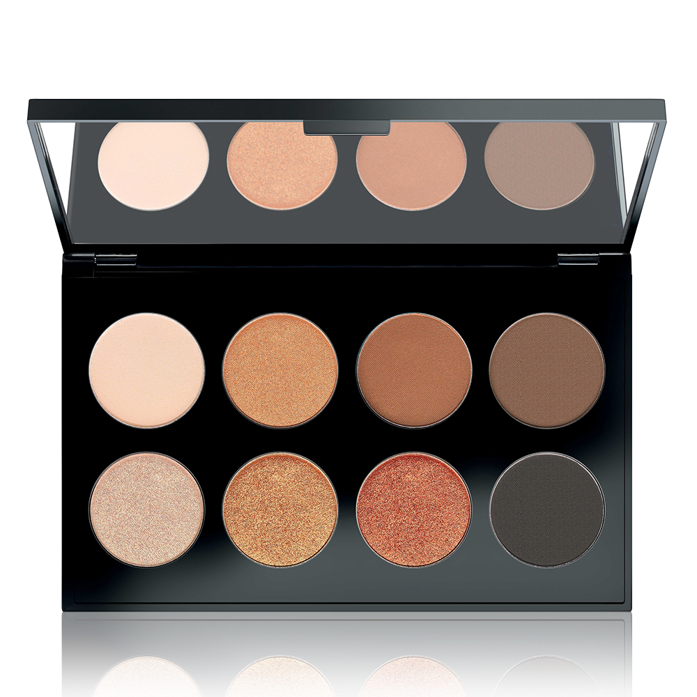 MAKE UP FACTORY Палитра теней для глаз № 17 / International Eyes Palette Latin Glow 8*1,5 г