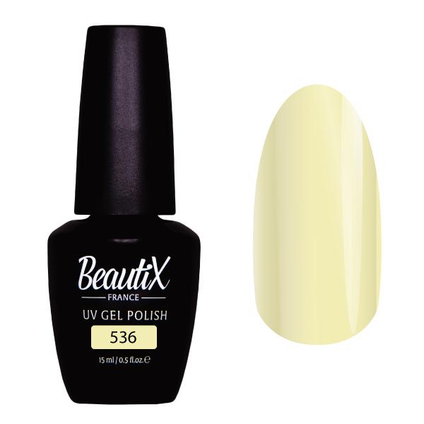 Купить BEAUTIX 536 гель-лак для ногтей 15 мл, Желтые